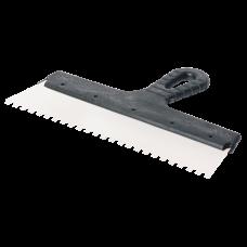 Шпатель фасадный 300мм зубьев 8×8мм нержавеющая сталь пластмассовая ручка
