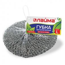 Губка (мочалка) для посуды металлическая большая спиральная 50 гр