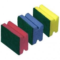 Губки для мытья посуды профилированная York 3101 (3 шт)