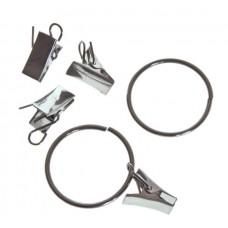 Зажим для штор метал. с кольцом d-35 (продажа поштучно)