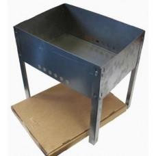 Мангал разборный 500ммх300ммх140мм (5 шампуров уголок 410*10*0,5 в коробке 0,5мм) М-4