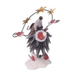 Фигурка декоративная новогодняя 'Еж-Санта' 6.5см×6.5см×12.5см