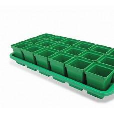 Ящик для рассады 12 горшков (200 мл, 47см×15см×9см) Кактусница Урожай-12 /240/