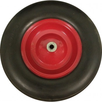 Колесо для тачки пенополиуретановое 16'х4,00-8  большое (ось 16мм*95мм)