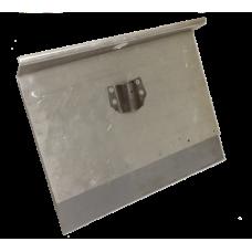 Движок однобортный 500ммх375мм алюминиевый с черенком и накладкой 12см