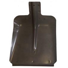 Лопата снегоуборочная 320ммх350мм ЛС №7 (стальная (мет.)/0,8мм/с планкой/d:40) /10/