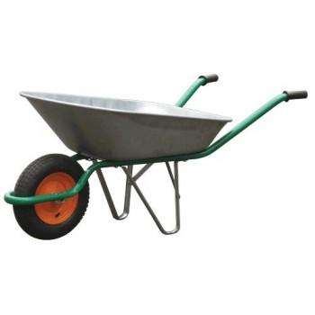 Тачка садовая 60л оцинкованная 250мм пневмо колесо