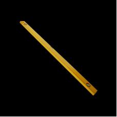 Уровень алюминиевый желтый 3 глазка 1800мм с линейкой