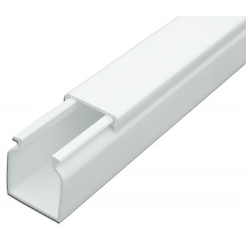 Кабель-канал 40ммх40мм белый Рувинил (2 м) 1шт=2 м 65379