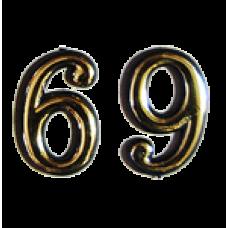 Номерок квартирный самоклеющийся №6/9 (Богд)