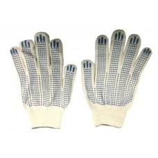 Перчатки с ПВХ 5-ти нитка 10кл. 'точка'