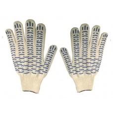 Перчатки с ПВХ 5-ти нитка 10 кл. 'волна' /10/400/
