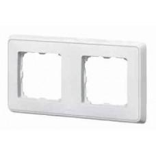 Рамка 2-м Cariva белая Leg 773652