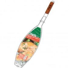 Решетка барбекю для рыбы длинная 40см*15см*2см L:68 см хром (РД-114)